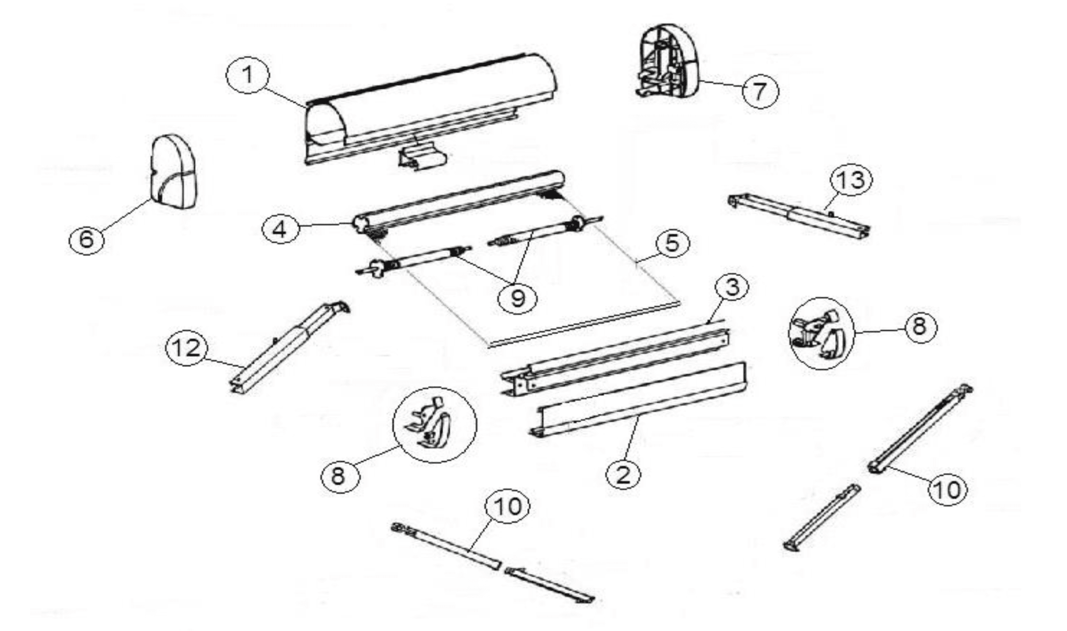 Thule Omnistor Awning Spare Parts By Rose Awnings
