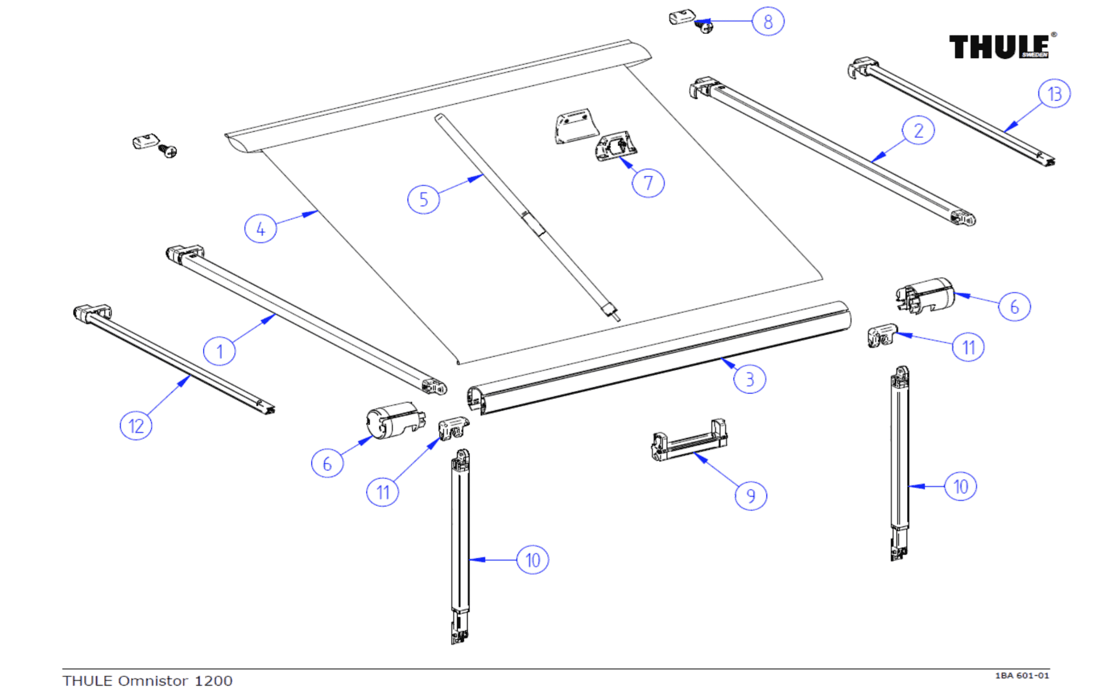 89 Omnistor Awning Parts