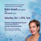 Announcing a concert of art songs, Oct 1, 2016
