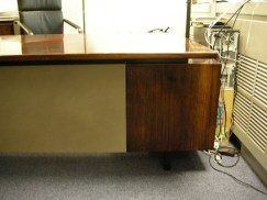 Desk after replacement of leather.