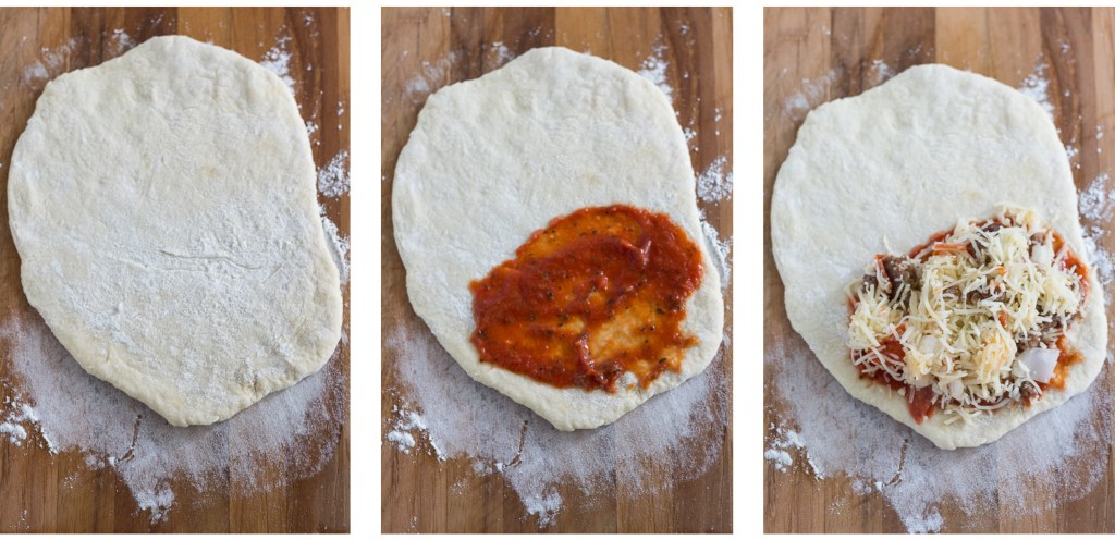 Pizza Calzones With Sausage, Pepperoni and, Onion   http://www.roseclearfield.com