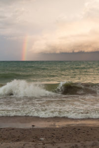 Rainbow Over Lake Michigan | https://www.roseclearfield.com