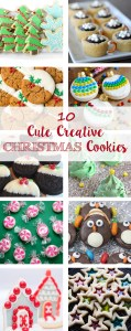 10 Cute Creative Christmas Cookies. Baking recipes for the entire holiday season! | http://www.roseclearfield.com