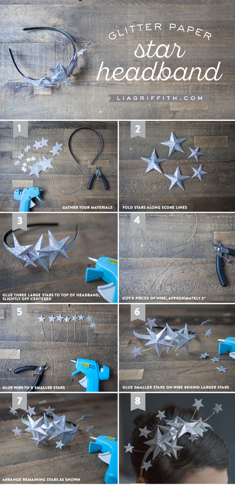 Last-Minute New Year's Eve Party Ideas - Paper Star Headband | http://www.roseclearfield.com
