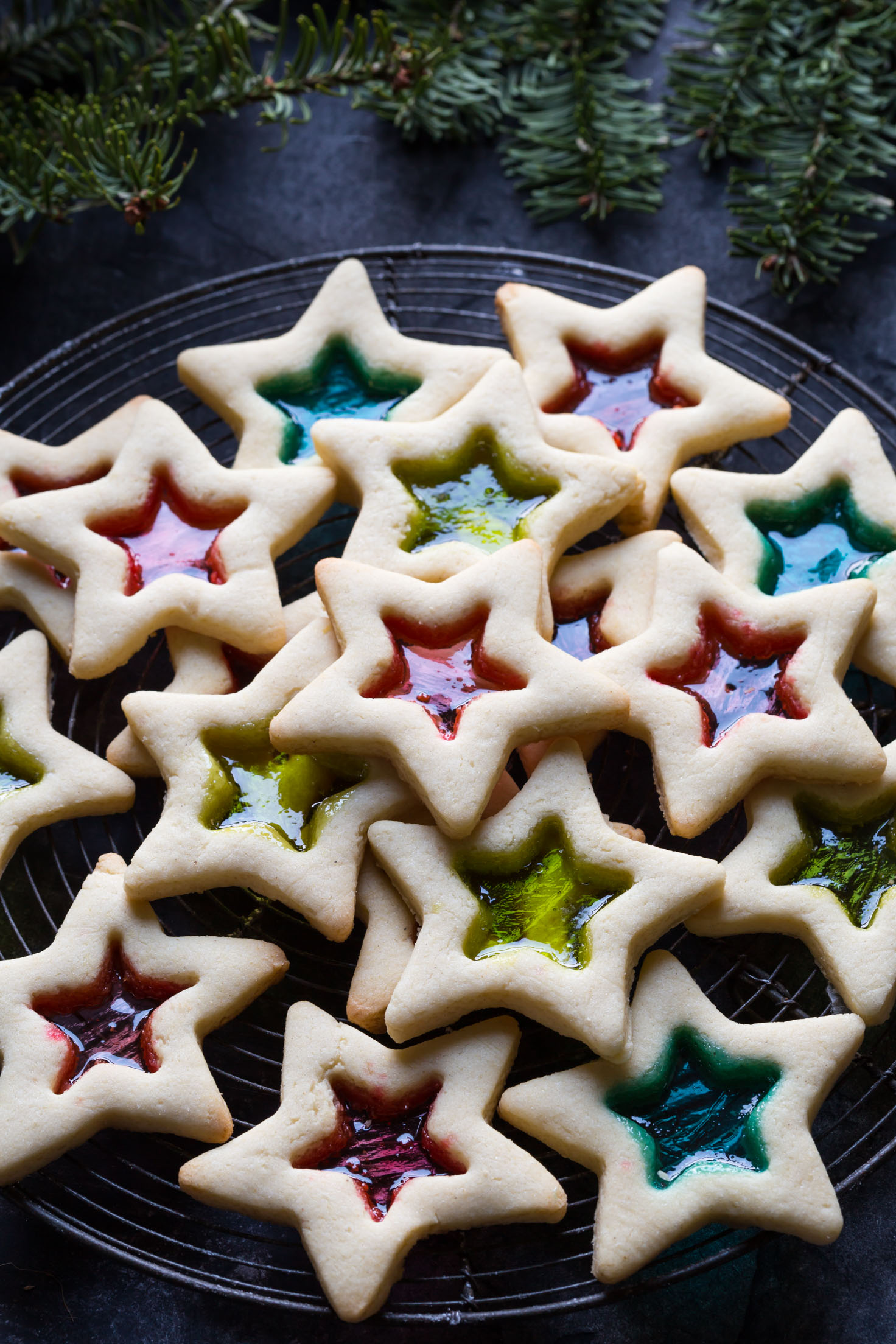 10 Cute Creative Christmas Cookies - Gluten Free Stained Glass Cookies | http://www.roseclearfield.com