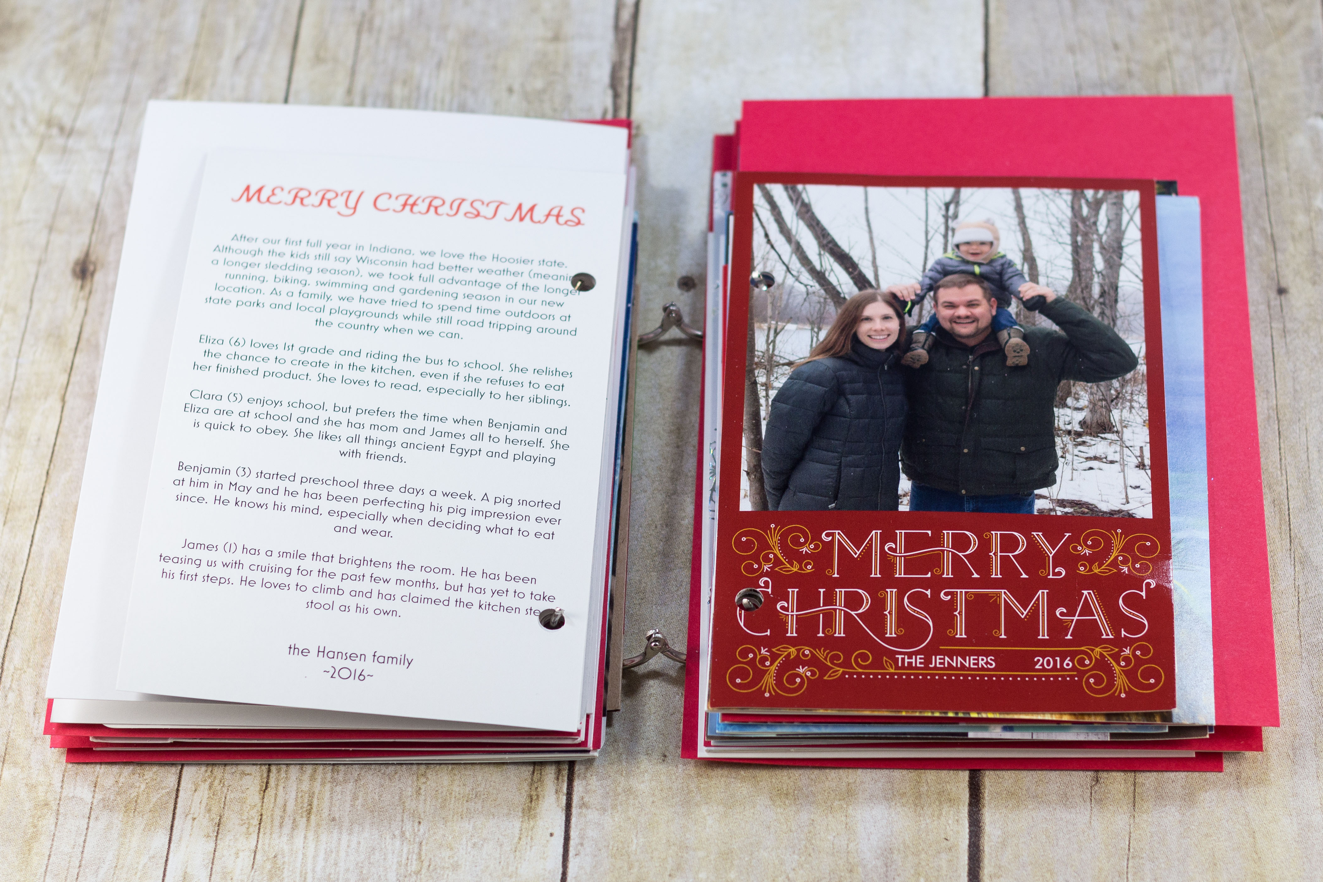 DIY Upcycled Christmas Card Books | http://www.roseclearfield.com