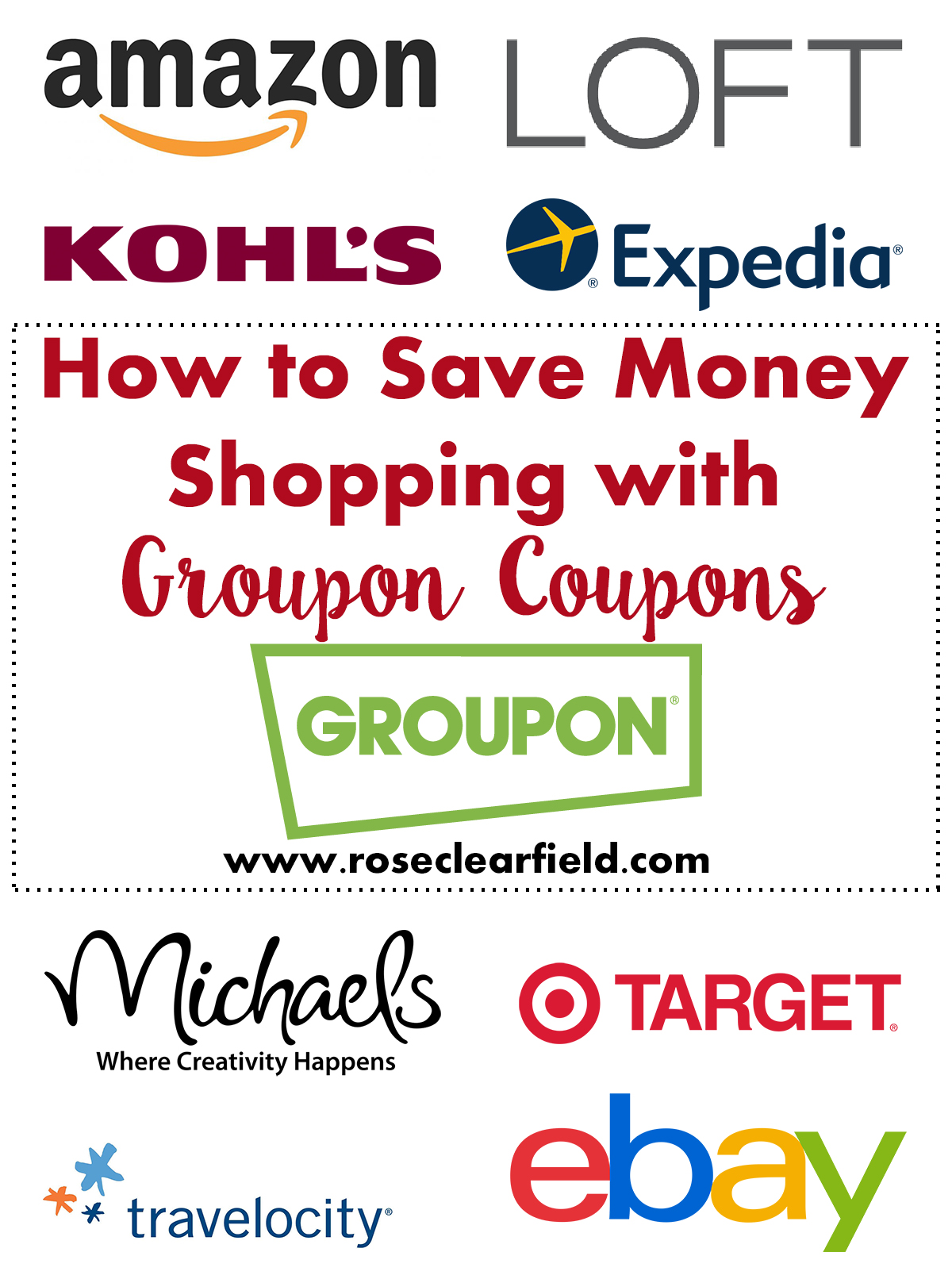 How to Save Money Shopping With Groupon Coupons | http://www.roseclearfield.com