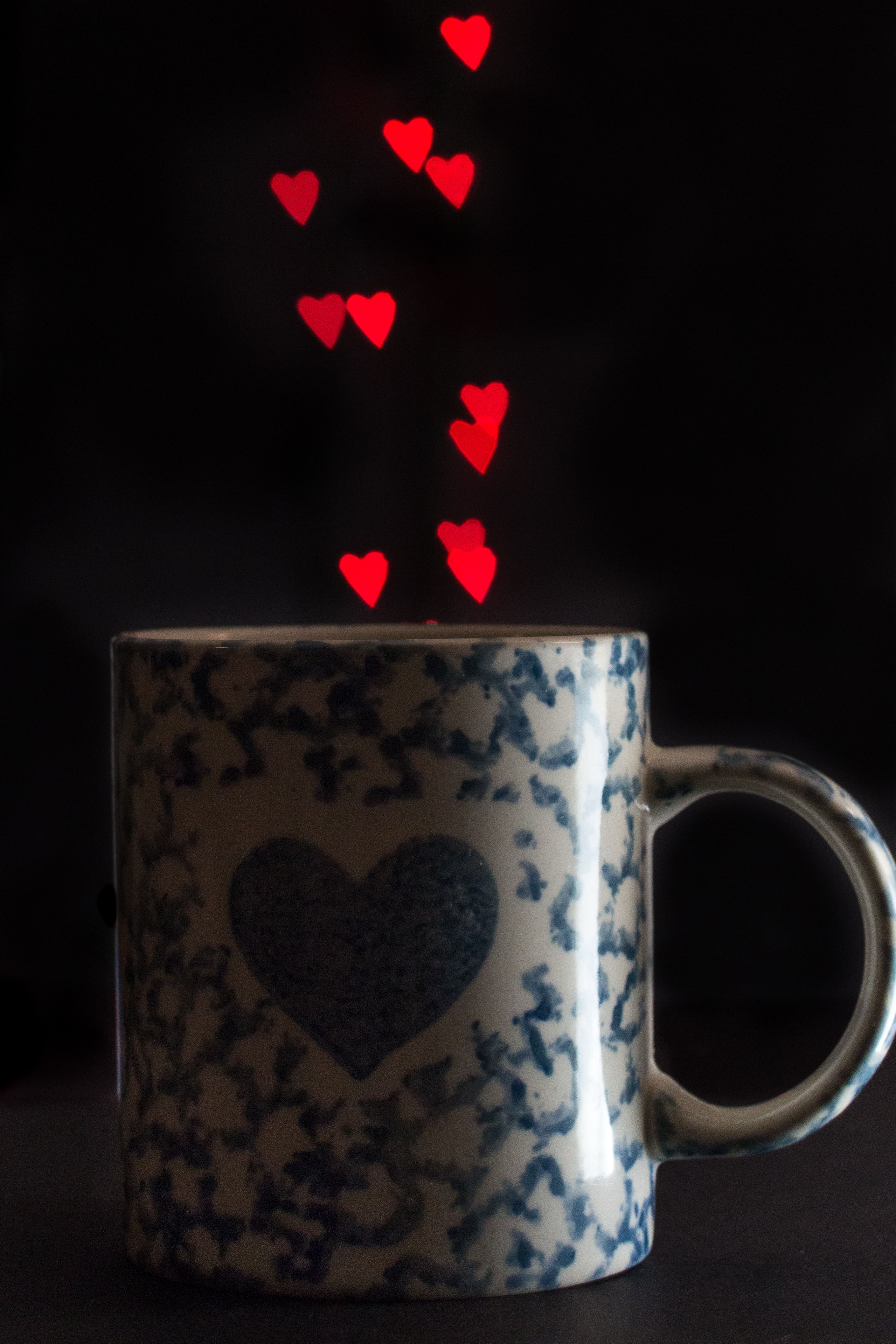 Heart mug with heart bokeh for Valentine's Day! | http://www.roseclearfield.com