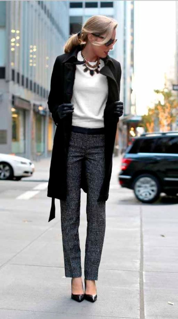Winter Business Casual Fashion Inspiration Rose Clearfield