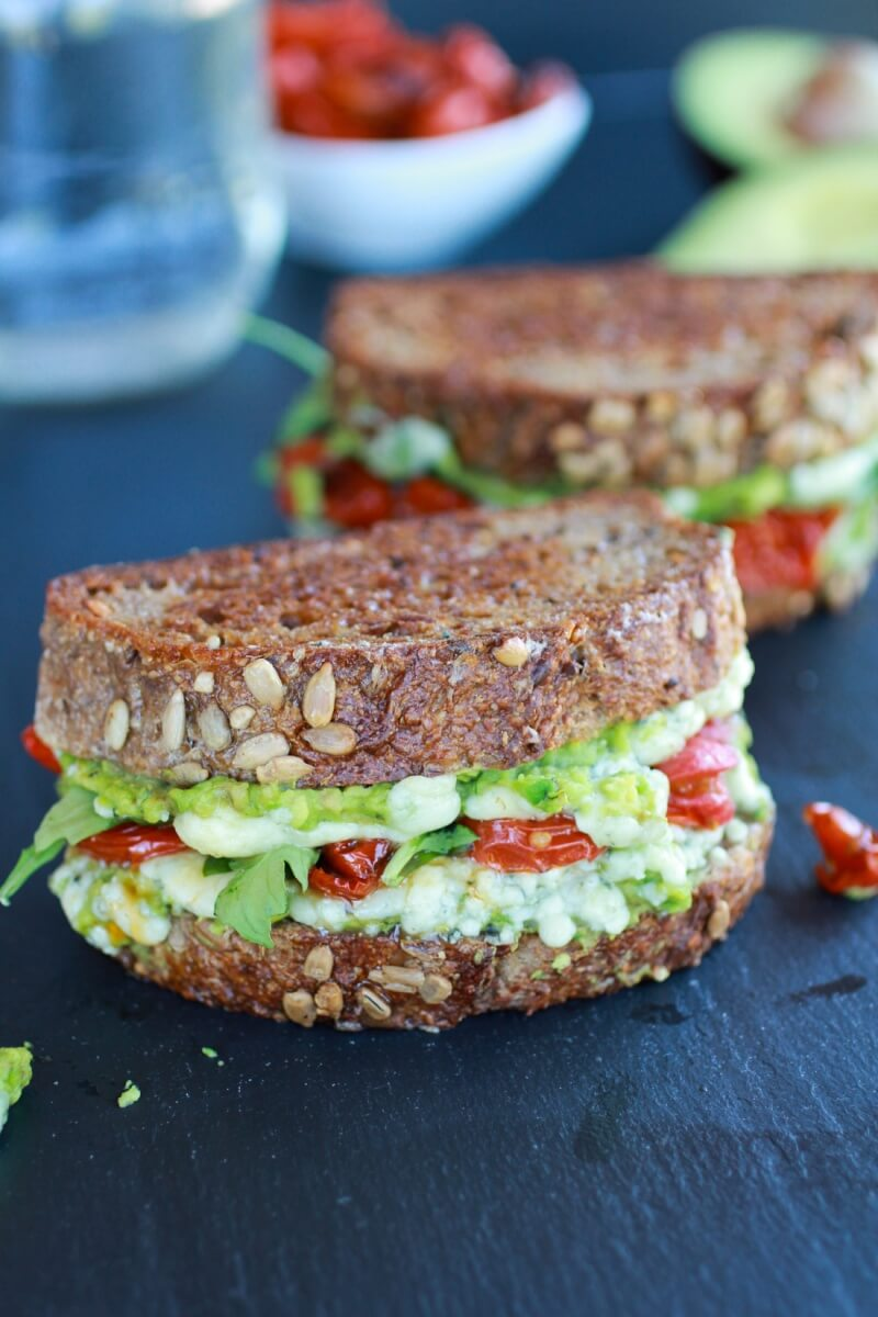 Blue Cheese, Smashed Avocado, and Roasted Tomato Grilled Cheese via Half Baked Harvest | http://www.roseclearfield.com