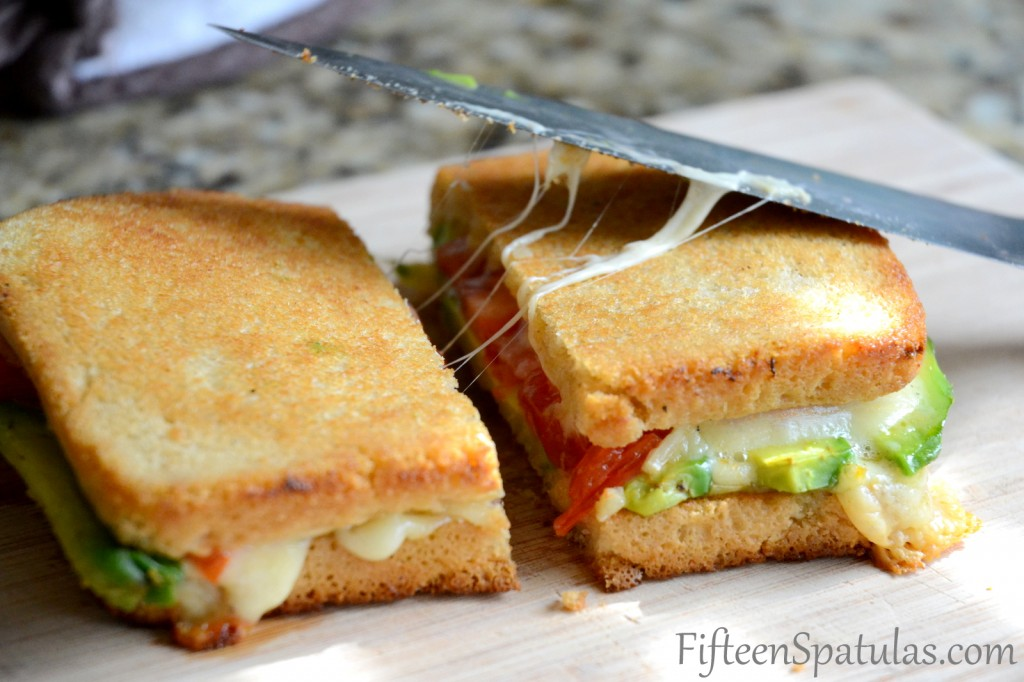 Grilled Cheese with Avocado and Heirloom Tomato via Fifteen Spatulas | http://www.roseclearfield.com