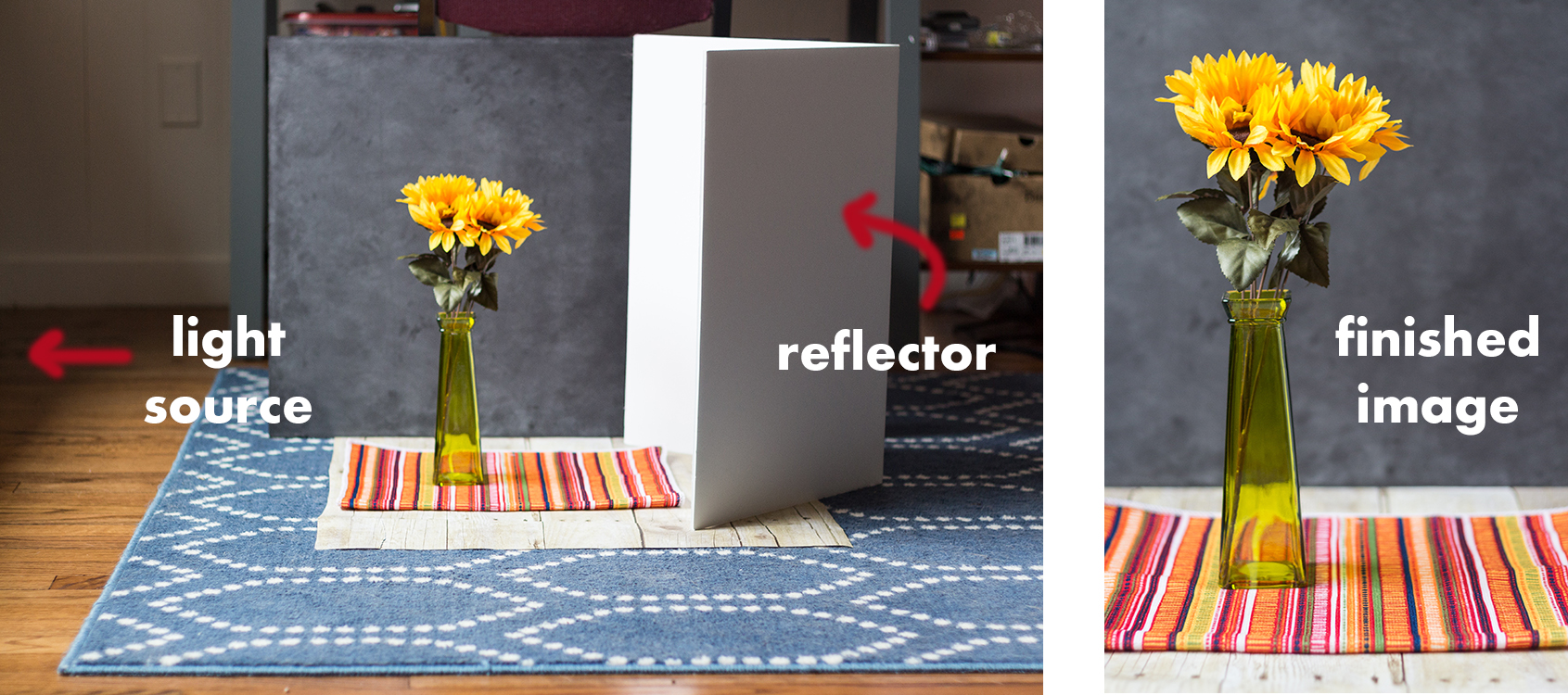 How to Use a DIY Photo Reflector | https://www.roseclearfield.com