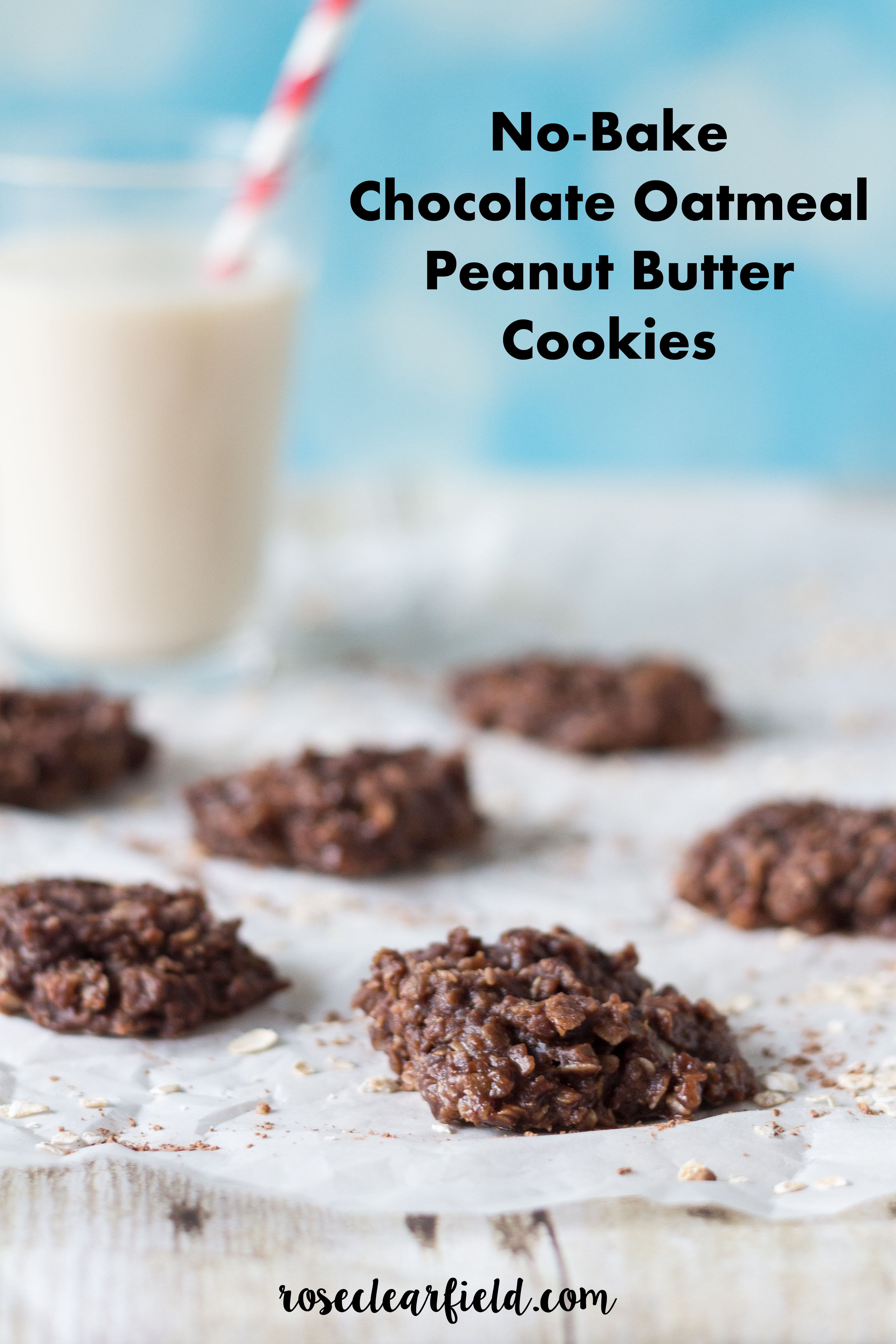 No-Bake Chocolate Oatmeal Peanut Butter Cookies | http://www.roseclearfield.com