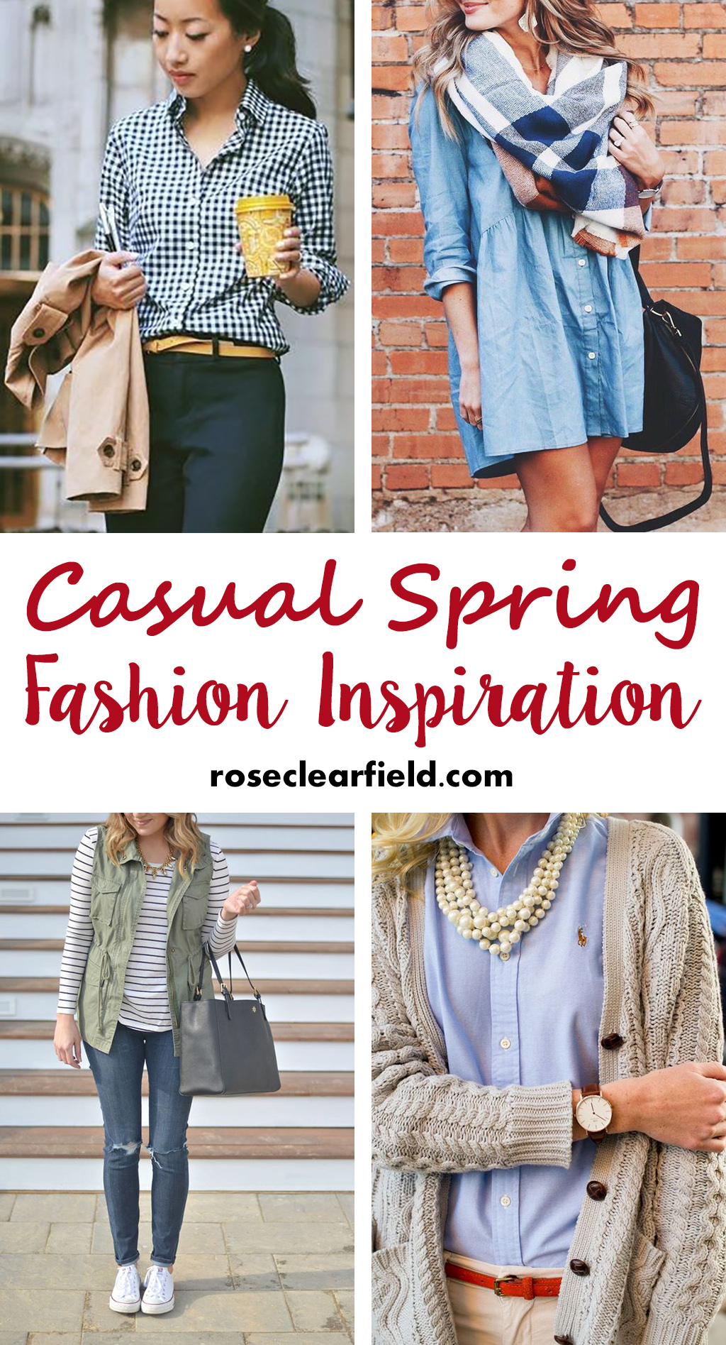 Casual Spring Fashion Inspiration | http://www.roseclearfield.com