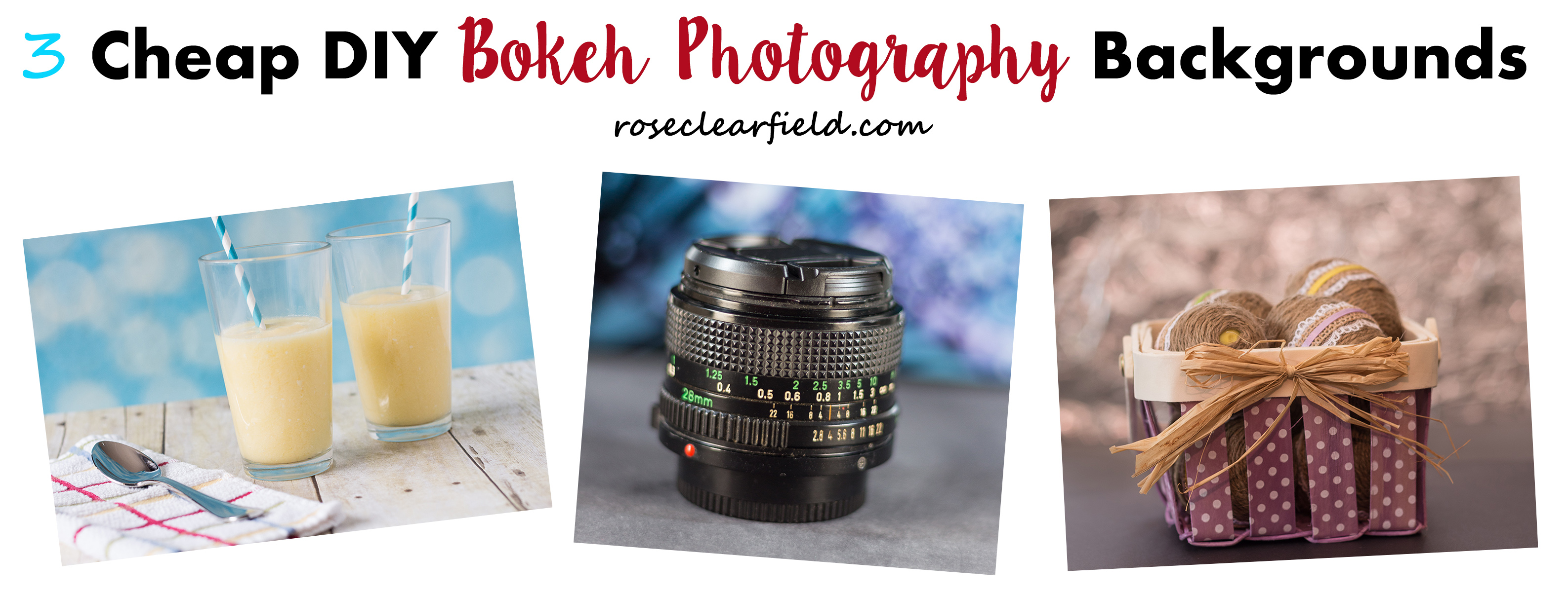 3 Cheap DIY Bokeh Photography Backgrounds | https://www.roseclearfield.com