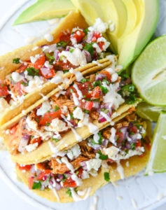 Cinco de Mayo Party Food Ideas - Weeknight Chicken Tacos via How Sweet Eats | http://www.roseclearfield.com