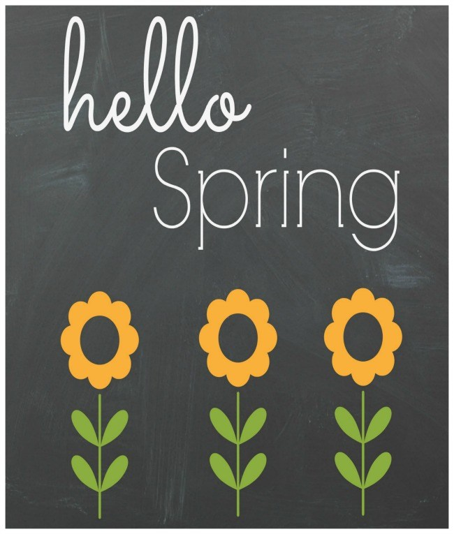 Free Spring Printables - Through My Front Porch | http://www.roseclearfield.com