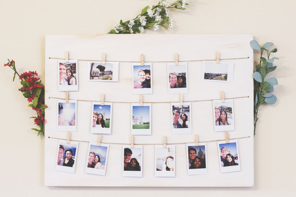 Clothespin polaroid photo display the wanderful soul rose clearfield last minute diy mothers day gift ideas clothespin polaroid photo display via the wanderful soul negle Choice Image