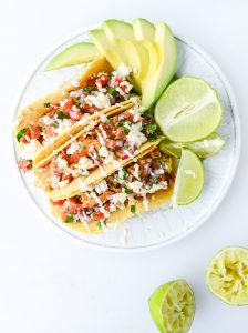 30 Days of Healthy Chicken Dinner Recipes - Easy Weeknight Chicken Tacos via How Sweet It Is | https://www.roseclearfield.com
