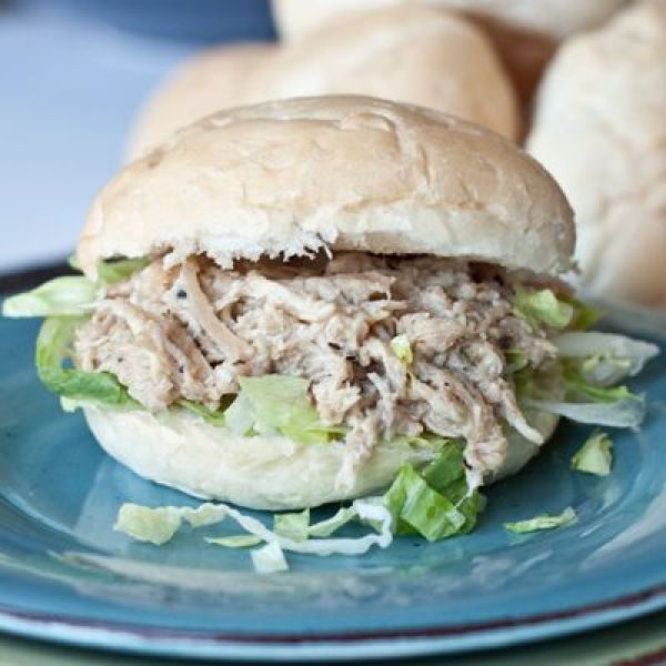 30 Days of Healthy Dinner Recipes - Slow Cooker Chicken Caesar Sandwiches via Boys Ahoy | http://www.roseclearfield.com