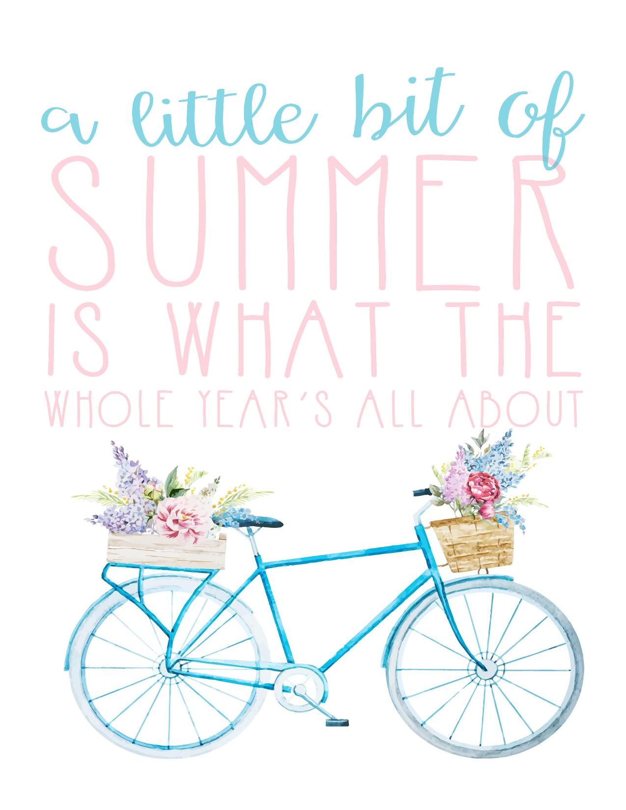 Free Summer Printables - A Little Bit of Summer via I Should be Mopping the Floor | http://www.roseclearfield.com