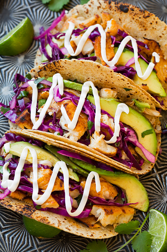 30 Days of Healthy Grilling Recipes - Grilled Fish Tacos with Lime Cabbage Slaw via Cooking Classy | http://www.roseclearfield.com