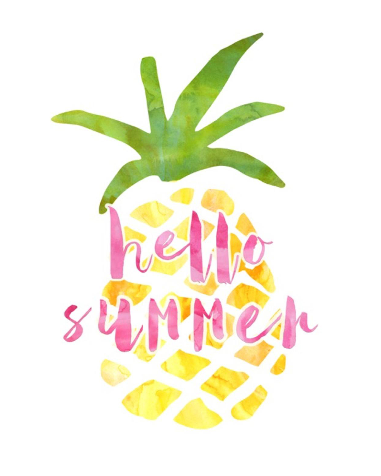 Free Summer Printables - Hello Summer Pineapple via Frosted Events | https://www.roseclearfield.com
