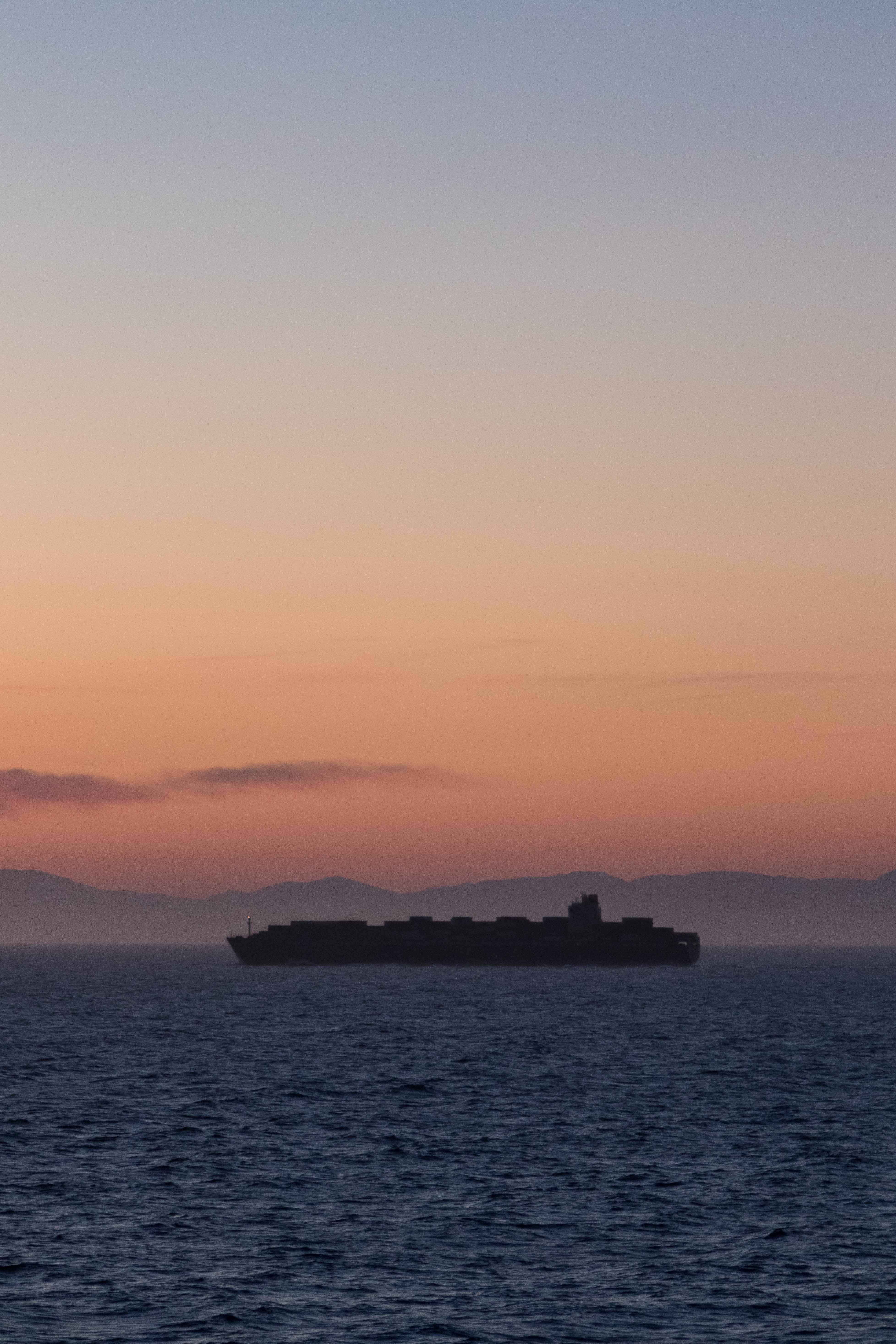 Mediterranean Cruise Boat Silhouette at Golden Hour | https://www.roseclearfield.com