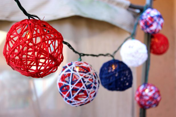 Easy DIY Fourth of July Decorations - Patriotic String Lights via Jonathan Fong at eHow | http://www.roseclearfield.com