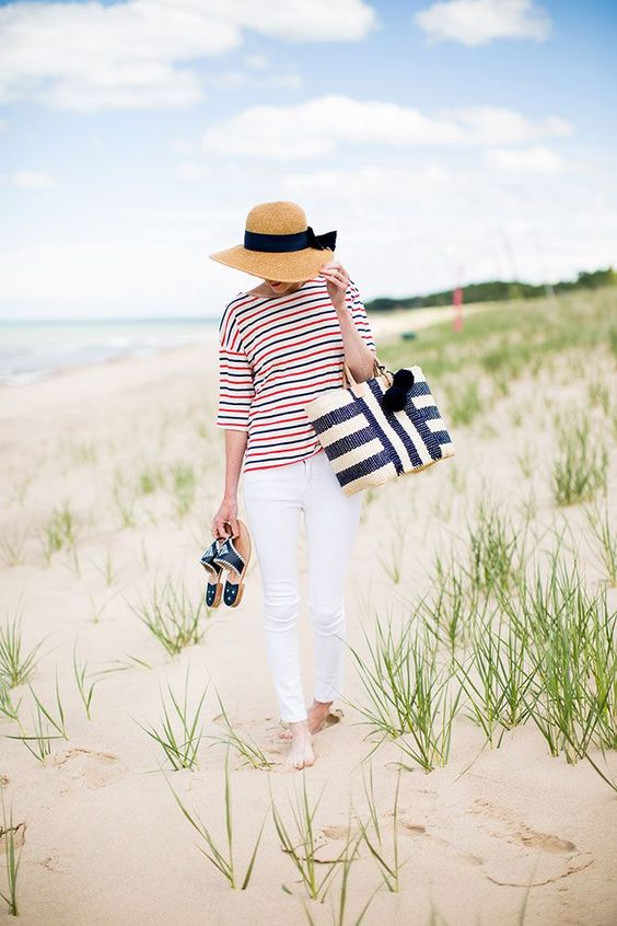 Summer Inspiration - Nautical Flare - June Style Tips via Lauren Conrad | http://www.roseclearfield.com