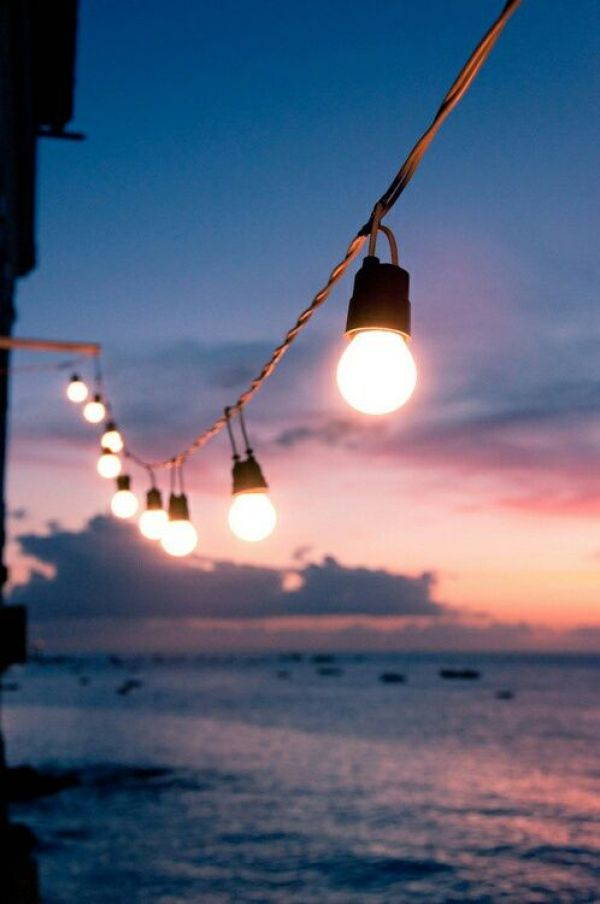 Summer Inspiration - String Lights Over the Water | http://www.roseclearfield.com