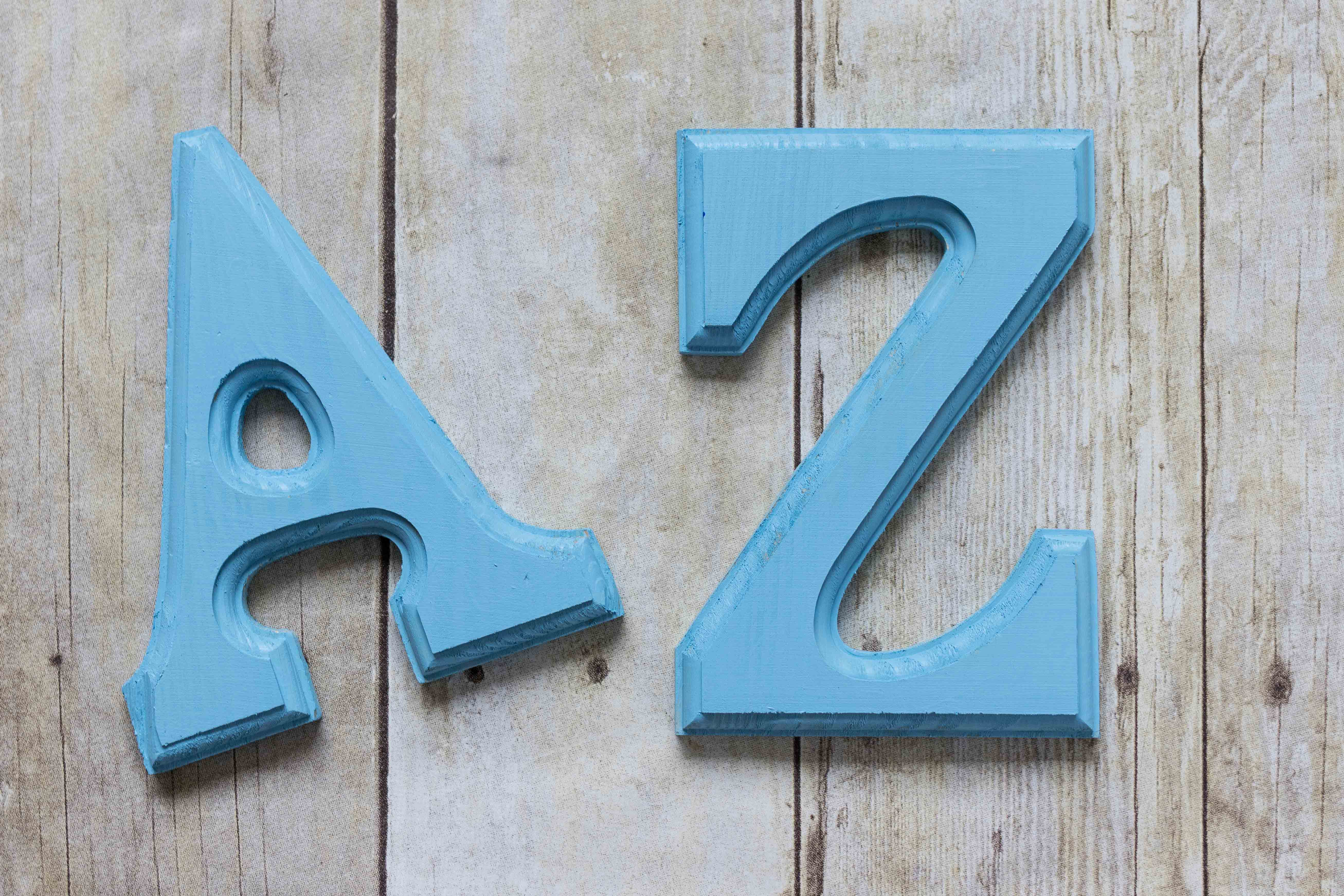 Periwinkle Letters for Nursery #2 A | http://www.roseclearfield.com