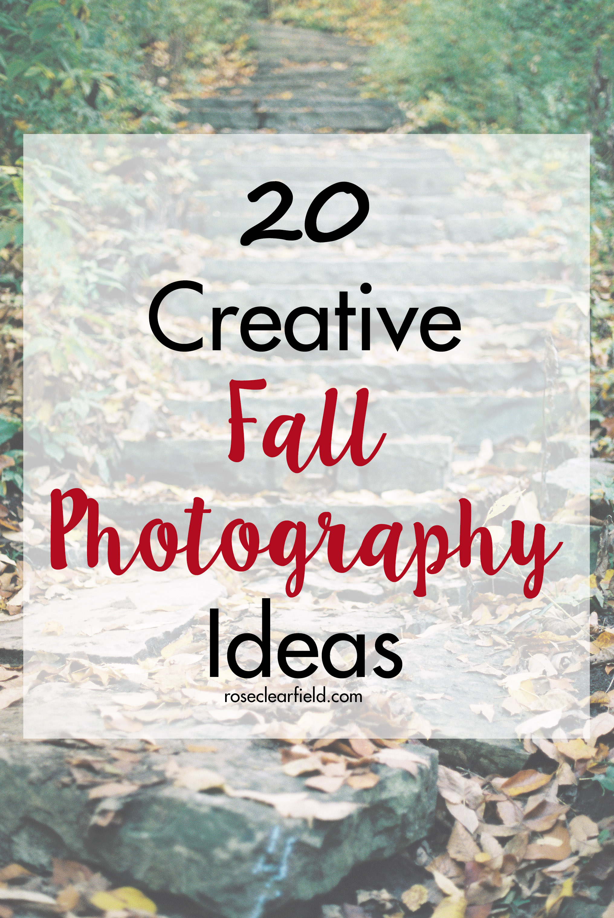 20 Creative Fall Photography Ideas | http://www.roseclearfield.com