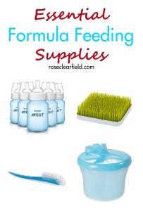 Essential Formula Feeding Supplies | https://www.roseclearfield.com