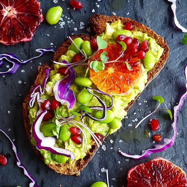 Fall and Winter Avocado Toast Recipes - Avocado Toast with Blood Orange and Edamame via Feed Feed | https://www.roseclearfield.com