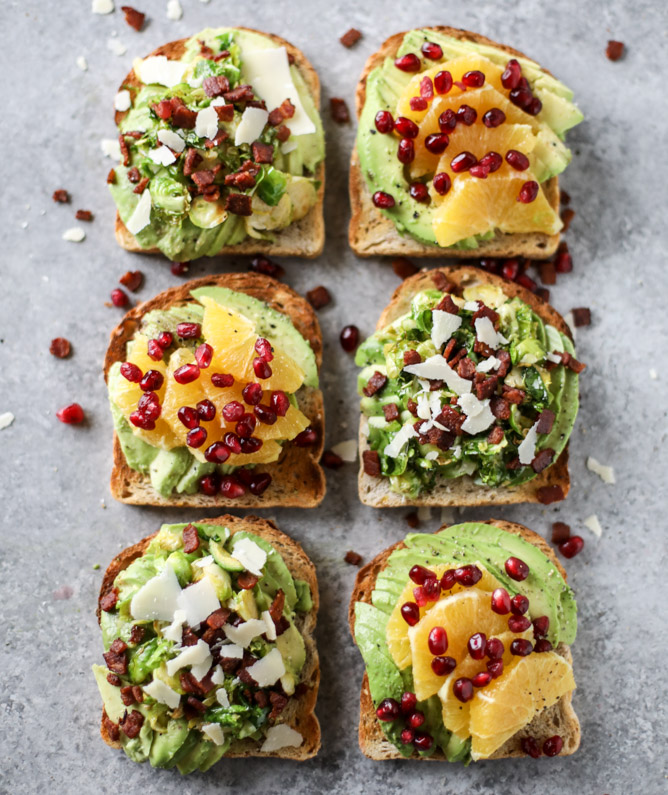 Fall and Winter Avocado Toast Recipes - Winter Avocado Toast Two Ways via How Sweet Eats | http://www.roseclearfield.com