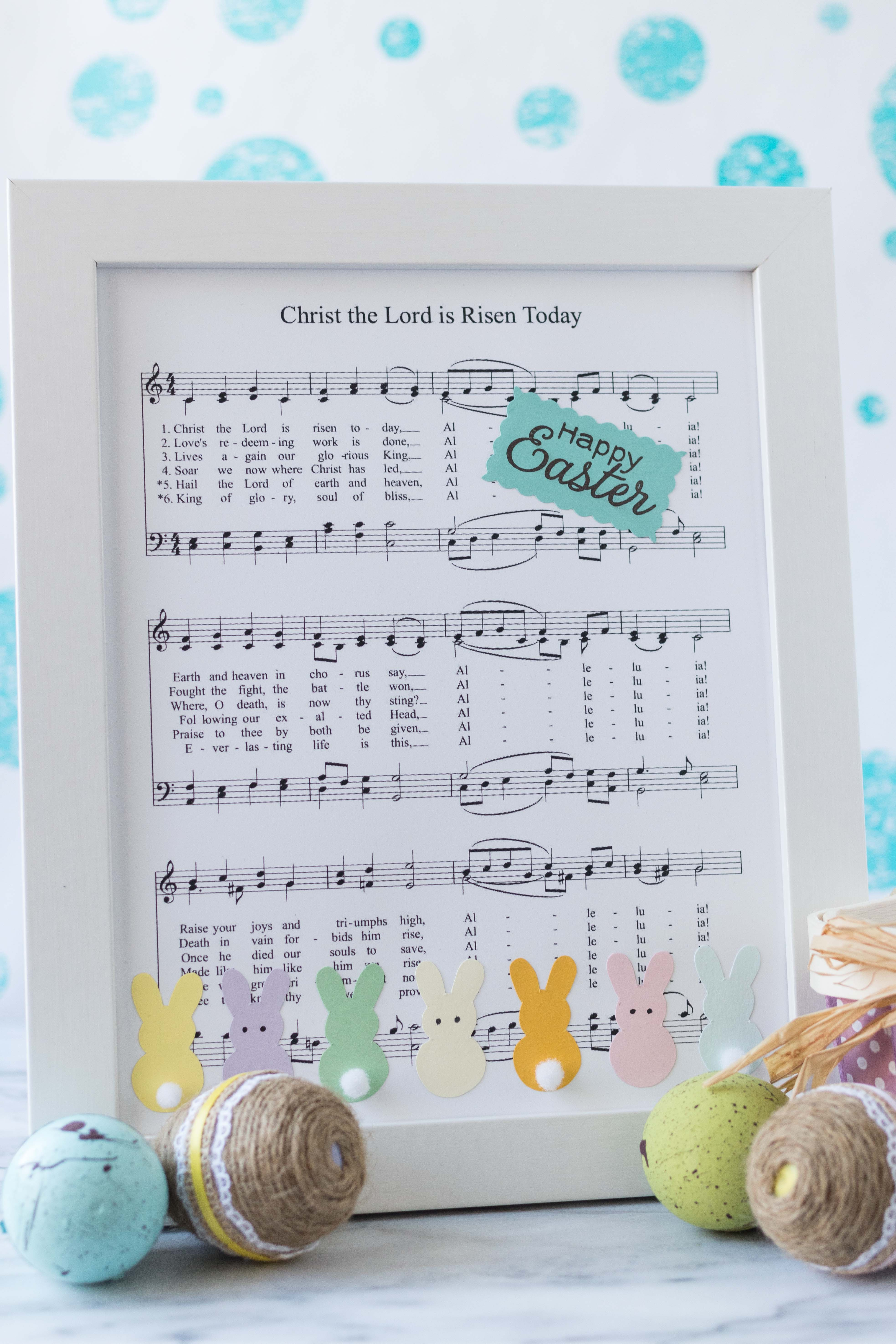 DIY Easter Sheet Music Wall Decor | https://www.roseclearfield.com