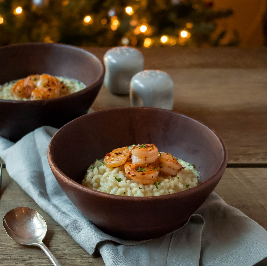 30 Healthy Dinner Recipes for Two - Small Batch Spicy Shrimp Risotto for Two via A Flavor Journal | https://www.roseclearfield.com