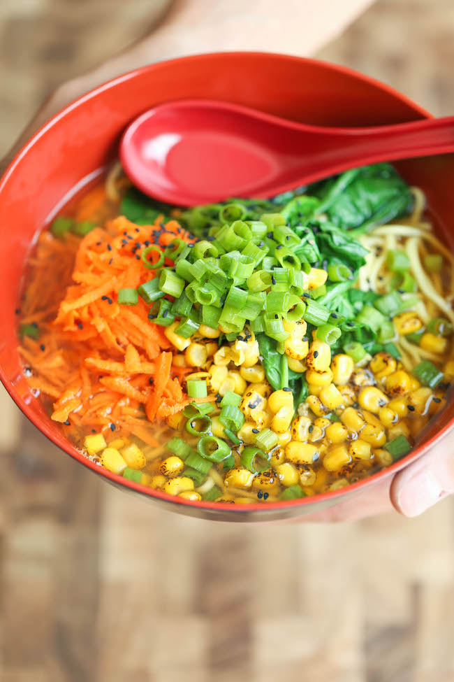 30 Healthy Ramen Noodle Recipes - Clean Out the Fridge Miso Ramen via Damn Delicious | https://www.roseclearfield.com