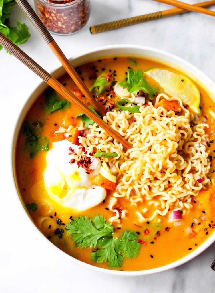 30 Healthy Ramen Noodle Recipes - Pho Spiced Pumpkin Ramen via Yes to Yolks   https://www.roseclearfield.com