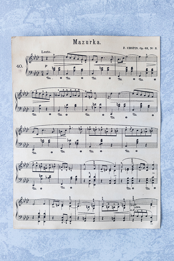 Newly antiqued sheet music ready for craft projects. #DIY #sheetmusic #antiquedpaper | https://www.roseclearfield.com