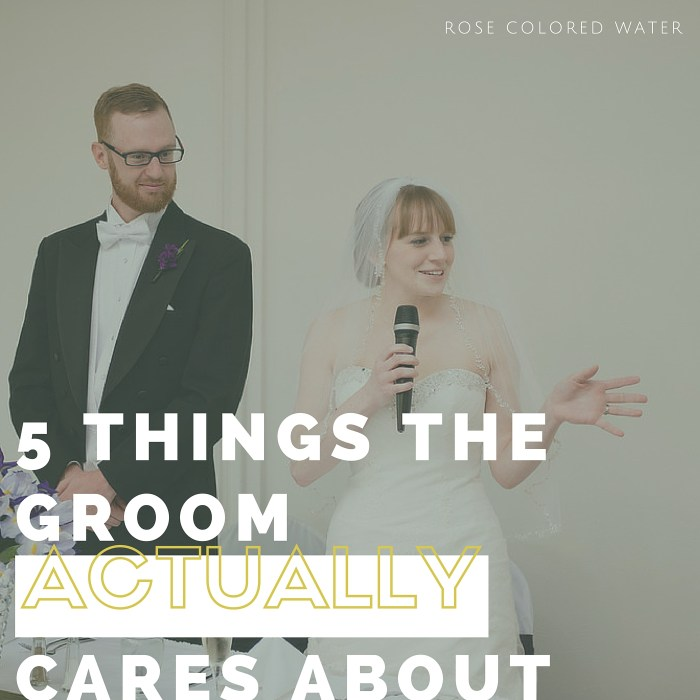 5 Wedding Details The Groom Actually Cares About