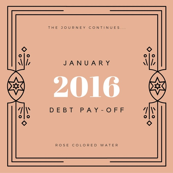 January 2016 Debt Pay-off