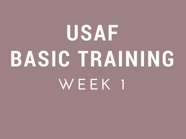 United States Air Force Basic Military Training Week 1
