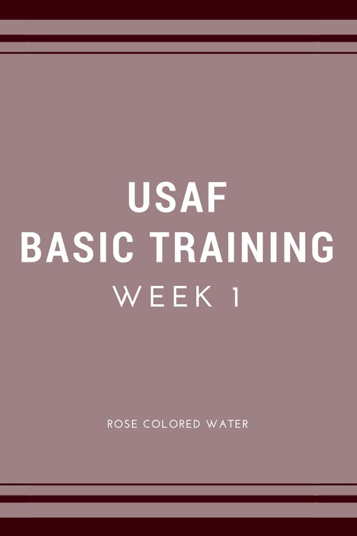 United States Air Force Basic Military Training Week 1