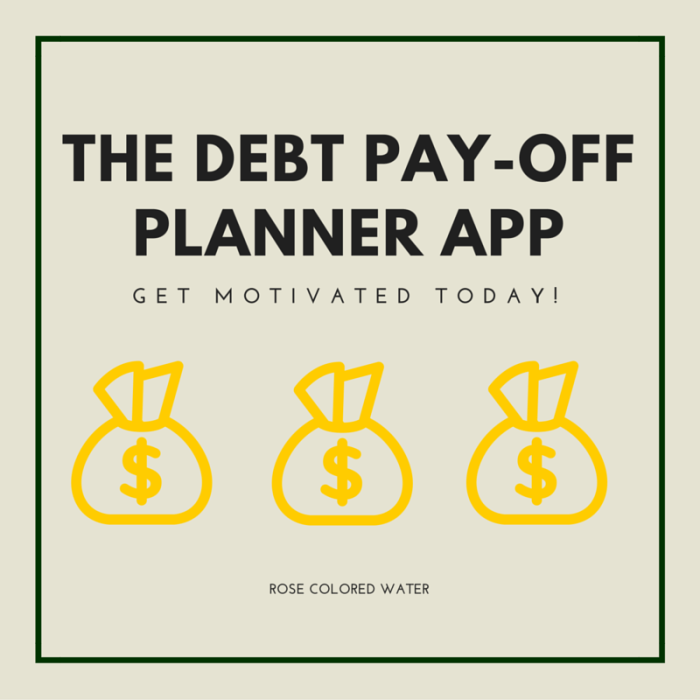 Download the Debt Pay-Off Planner App to get motivated to pay off debt fast!