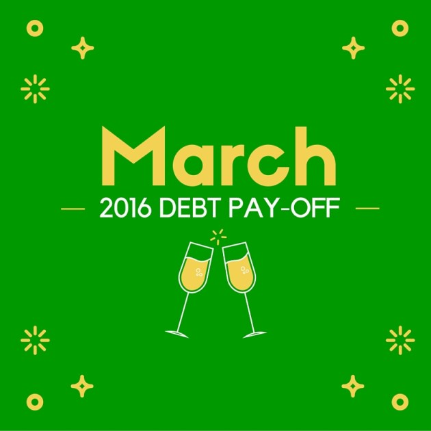 March 2016 Debt Payoff Report | Rose Colored Water