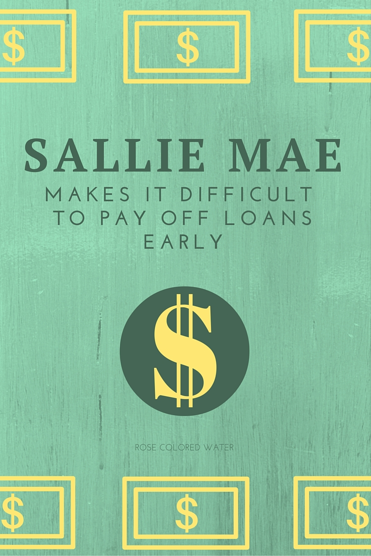 if you have multiple sallie mae loans their website will show each one with their respective amounts on one page the set up is actually really nice