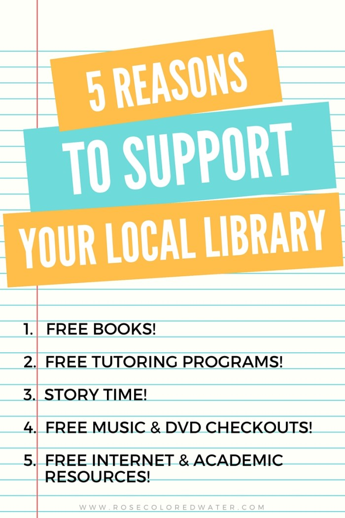 Do you really need 5 reasons to support your local library? Well here they are! #freebooks #reading #freedvds #community #storytime