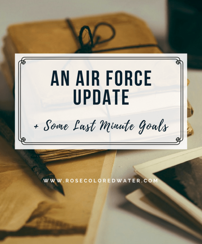 Last minute goals and an Air Force Update | Rose Colored Water